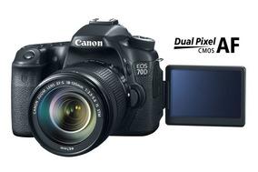 Canon 70d Lente Stm 18-135mm Cartão Grip 2 Bat Acessórios