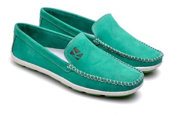 Sapato Mocassim Esporte Masculino 100% Couro Jovens Elegante