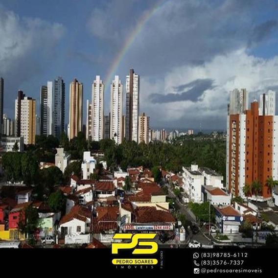 Apartamento Com 3 Dormitórios Para Alugar, 110 M² Por R$ 1.850/mês - Miramar - João Pessoa/pb - Ap3241