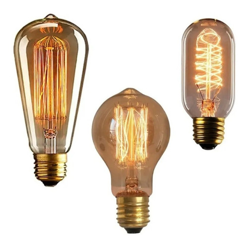 Lâmpadas Vintage Retrô - Thomas Edison  Filamento De Carbono