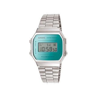Reloj Casio Vintage Retro A-168wem-2 Agente Oficial Caba