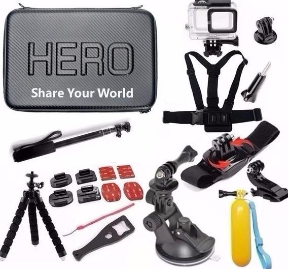 Kit P Gopro Hero 5 Hero 6 Hero 7 Black Estanque Tripé Peito