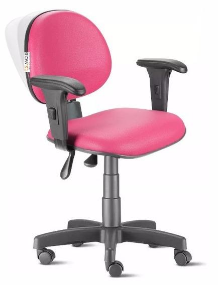 Cadeira Ergonômica Nr17 Back System Com Braços Pink Campinas