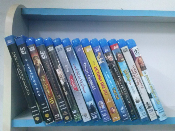 Lote De 14 Disco Blu Ray De Filmes Em 3d Originais