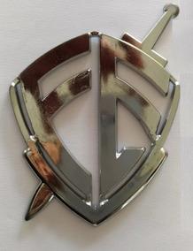 Adesivo Escudo Fé Cromado - Grande - Frete Fixo 10,00