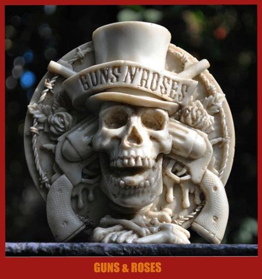 Escultura De Los Guns And Roses, Axel Rose, Slash Rock Metal