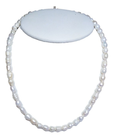 Collar Perla Cultivada Barroca Tamaño Collar A055