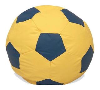 Puff Sillón Balón Futbol Resistente Tacto Piel Sleepmart