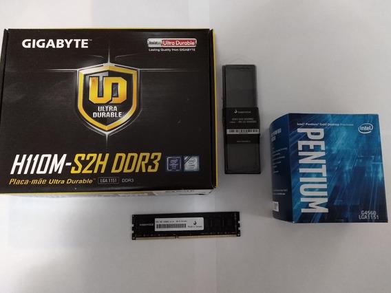 Kit Gamer Intel G4560 3.5ghz + Gigabyte H110m + Mem.8gb Ddr3