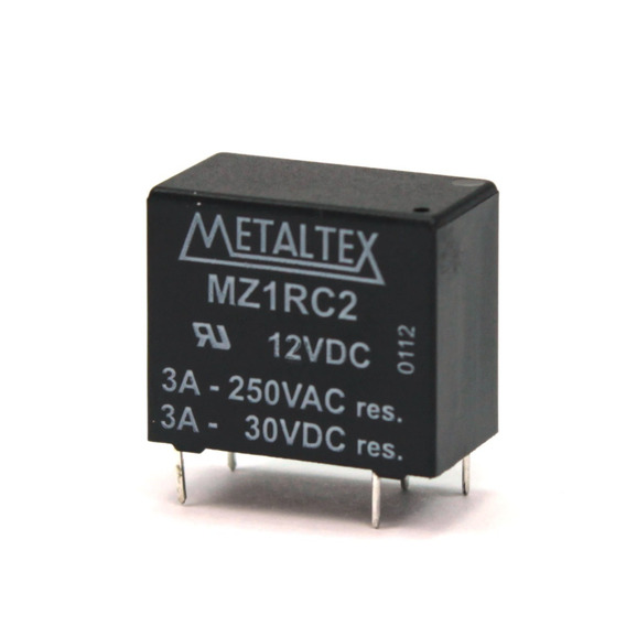 Rele Miniatura De Potência 5 Pinos Mz1rc2 12v Metaltex