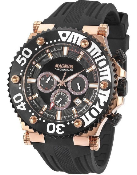 Relógio Magnum Masculino Cronógrafo Ma32121p Aço Rose