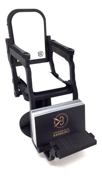 Cadeira De Barbeiro Porta-cartão De Visita Decorativo Em Mdf Para Barbearias E Salões
