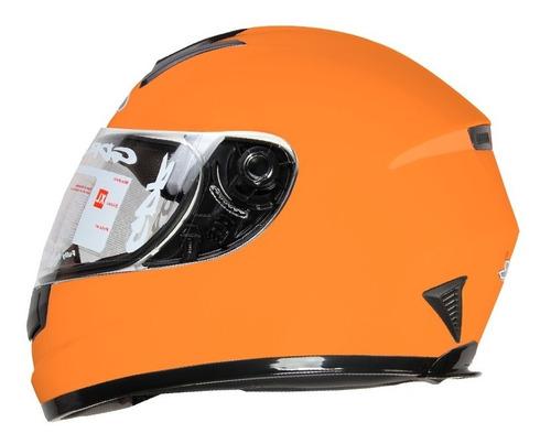 Casco Para Moto Gdr Ff-858 Solid Naranja Certificado