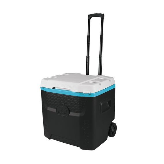 Caixa Térmica Com Porta Copos Igloo 51l Preta E Turquesa