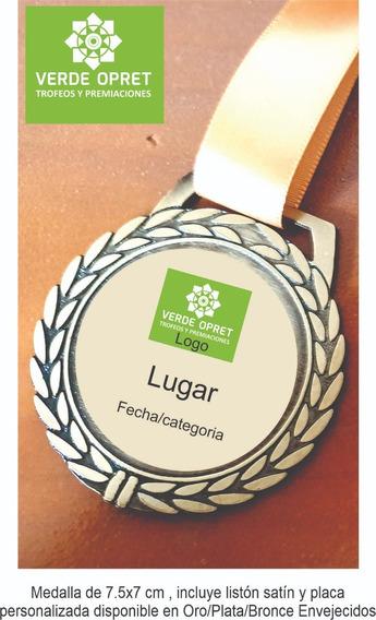 Medallas Deportiva Personalizada, Incluyen Listón X10