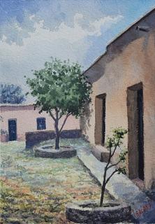 Detalle, Mellado, Gto. - Isaías Velázquez - Acuarela