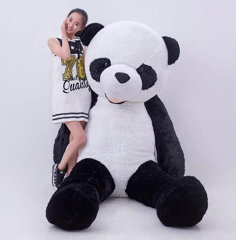 Imagem 1 de 5 de Panda De Pelúcia 1,60 Metros 160cm Boneco Presente Namorada