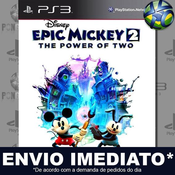 Disney Epic Mickey 2 The Power Of Two Ps3 Psn Jogo Promoção