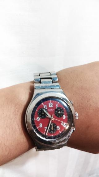 Reloj Swatch Irony Crono Rojo