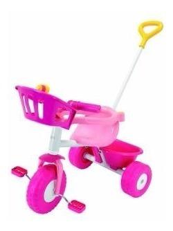 Triciclo Blue Pink Metal Rondi Con Baúl Y Barral Micieloazul