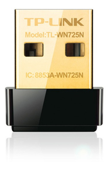 Placa Red Usb Tp-link Wn725n 150mbps Negra