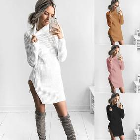 c28503c9 Sweater Vestido Jumper Tops Solid Outerwea Blanco Xl
