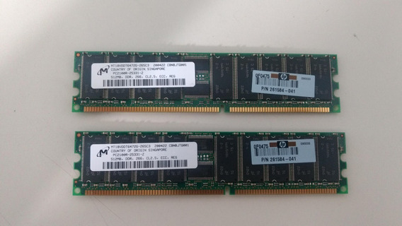 Memoria Smart Hp 1gb 2x512 Ddr Pc2100 Cl2.5 Ecc Reg Pn261584