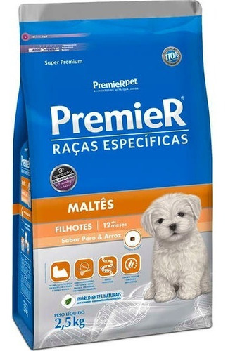 Ração Premier Raças Específicas Maltês Filhote 2,5kg