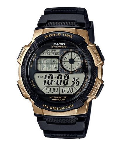 Reloj Casio Ae-1000w-1bv Original Resiste Agua Pila 10 Años