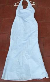 Vestido De Novia Blanco Estilo Sirena Talla S