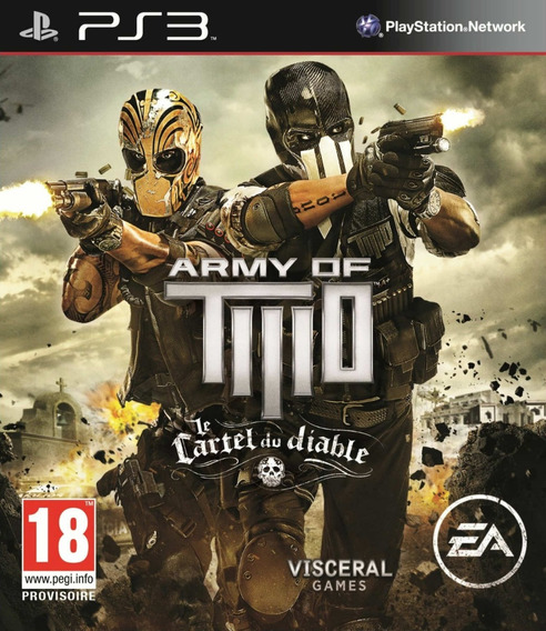 Jogo Army Of Two The Devils Cartel Ps3 Playstation Frete Grt