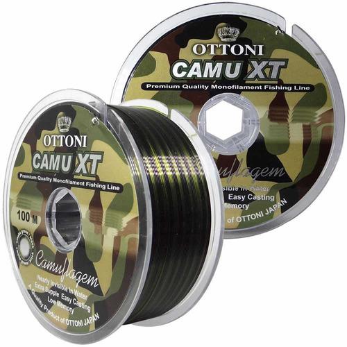 Imagem 1 de 4 de Linha Monofilamento Camu Xt 0,40mm - 100m - 43,1 Lb
