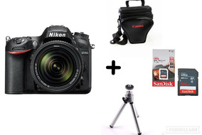 Câmera Nikon D7200 C/ 18-140mm + Bolsa + 64g + Tripé