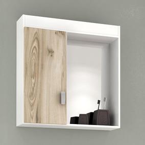 Armário Para Banheiro Balcony Kit 50 - Branco/cabernet