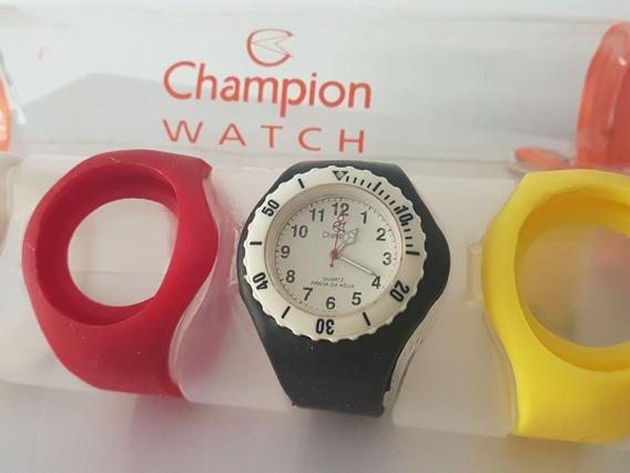 Relógio Champion Troca Pulseira Unissex Original