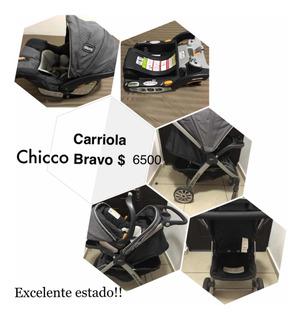 Carriola Y Portabebé Para Auto Chicco Bravo. Sistema 3 En 1.