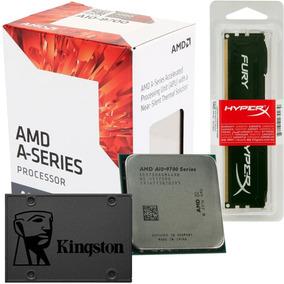 Kit Processador Amd A10-9700 + Hyperx Ddr4 8gb + Ssd 480gb