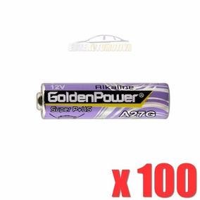 100 Pçs Pilha Alcalina Golden Power 27a 12v Controle Alarme
