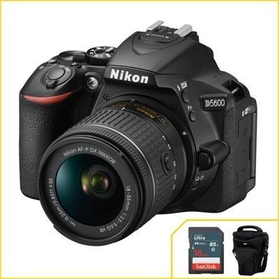 Câmera Nikon D5600 Kit Com 18-55mm F/3.5-5.6g Vr Af-p Dx