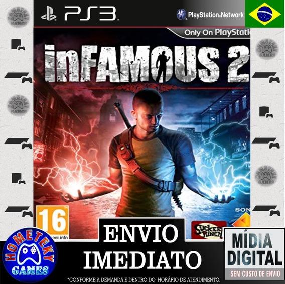 Infamous 2 - Psn Ps3 Português Br - Pronta Entrega