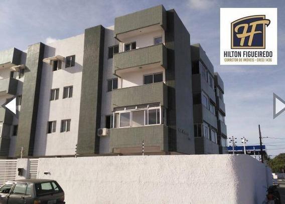 Apartamento Com 2 Dormitórios Sendo 01 St Para Alugar Por R$ 1.250/mês - Bairro Dos Estados - João Pessoa/pb - Ap5927