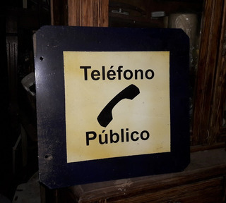 Cartel De Telefono Antiguo , Realiza Tu Oferta