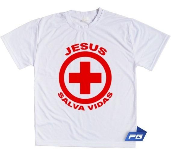 Camiseta Jesus Salva Vidas Gospel Crente Bíblia Deus