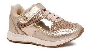 Tênis Klin Baby Walk 216023 Dourado