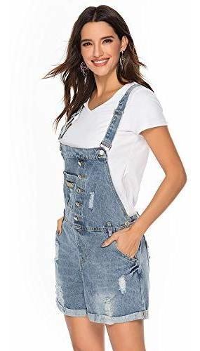 Para Dama Pantalone Corto Jeans Ajustable