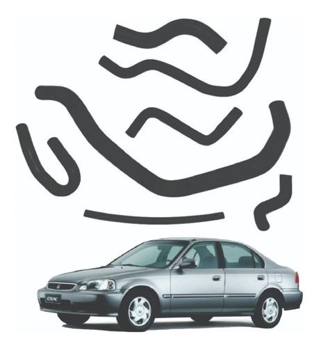 Imagem 1 de 2 de Kit Com 7 Mangueiras Do Civic 1.6 1996 A 2001