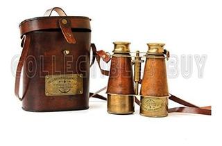 Coleccionables Compra Victorian Marine Brass Cuero Binocular