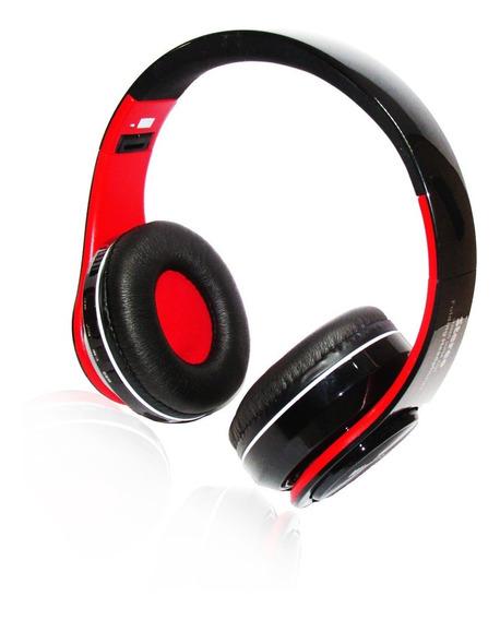 Fone De Ouvido Headphone Sem Fio   Usb   Bluetooth   Fm