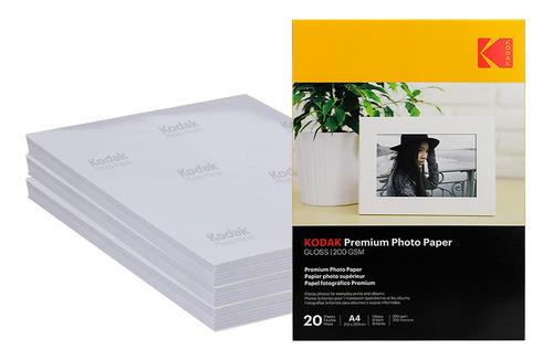 Imagem 1 de 6 de Papel Fotográfico Kodak (atacado) 100 Folhas 200g Gloss - A4