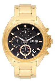 Relógio Orient Masculino Cronografo Dourado Mgssc022p1kx
